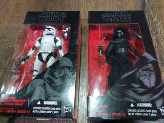 Star Wars Black Series 6 Inch Bundle Kylo Ren First Order Stormtrooper