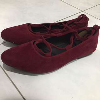Maroon shoes