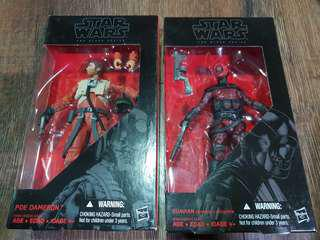 Star Wars Black Series 6 Inch Bundle Poe Dameron and Guavian Enforcer