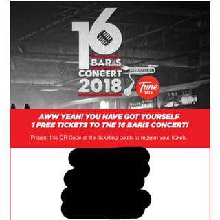 16 baris tickets