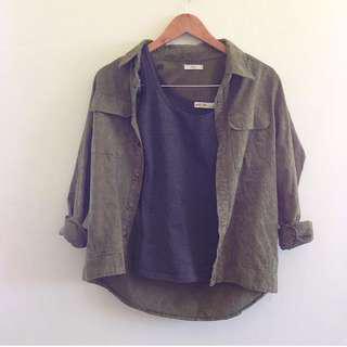 Army green coat