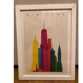 Ikea Frame with Free New York City Ilustration