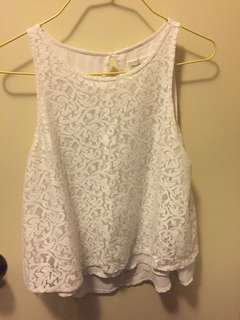 95% NEW ❤️ A&F Abercrombie & Fitch White Top