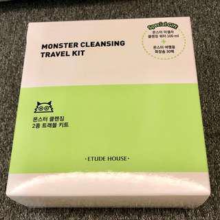 全新未拆封 Etude House Monster Cleansing Travel Set