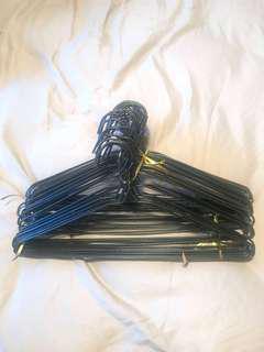 36 Black Hangers