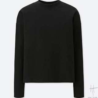 UNIQLO Hana Tajima Oversized Crew Neck Long Sleeve T-Shirt