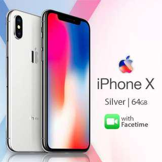 iPhone X 64gb Silver PERFECT CONDITION