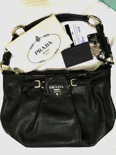 PRADA Nero Shoulder Bag (soft calf leather)