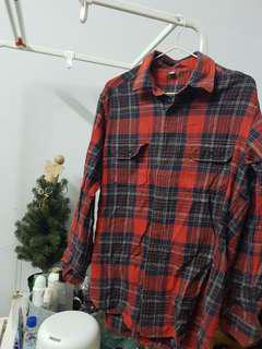 Red Checkered Top (oversized)
