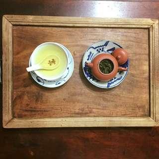 日據 牛樟 湯盤 茶盤 木紋極美 已退漆成原木色 歲月滄桑感佳 完整