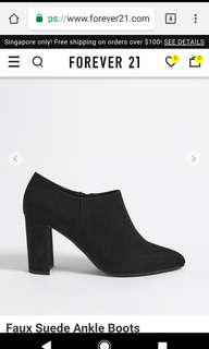 Forever 21 Faux Suede Boots