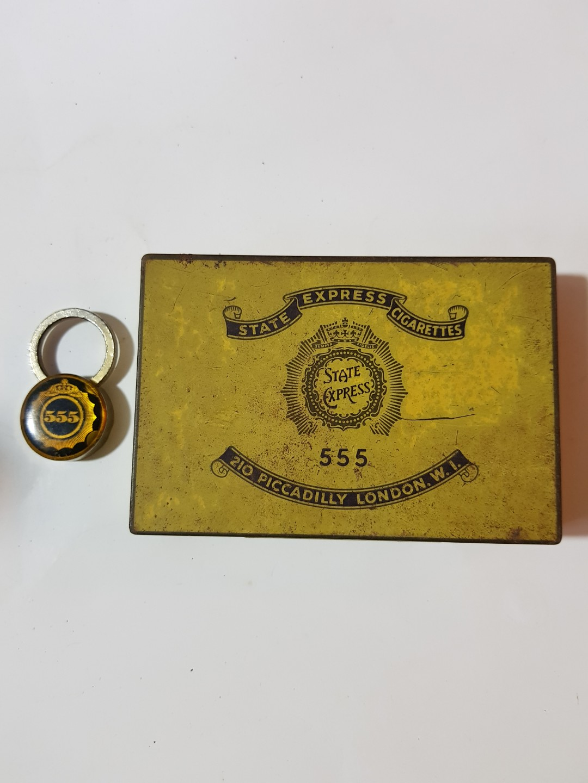555 Cigarette Tin Case Key Ring Vintage Collectibles