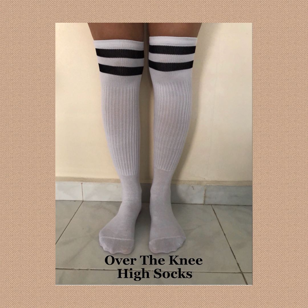 67d58de4a ZHOELUX   Striped Knee High Socks Thigh High Over The Knee Socks ...