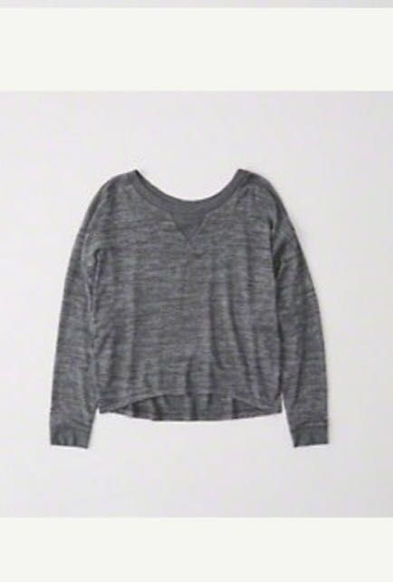b60c30a4ae Abercrombie and Fitch Long Sleeve Sweater in Grey
