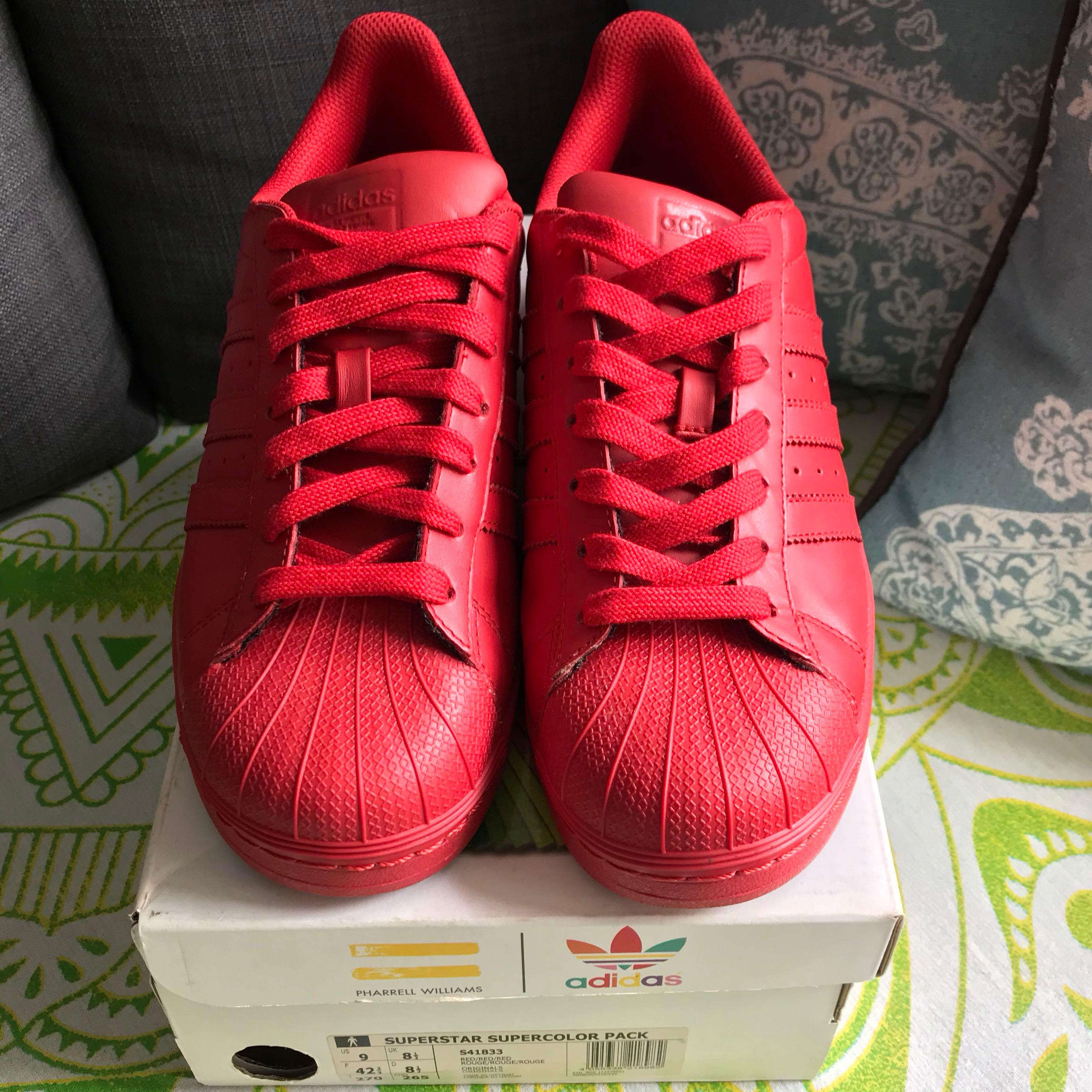 nouveaux styles a5e63 0dced Adidas Superstar Supercolor (Red), Men's Fashion, Footwear ...