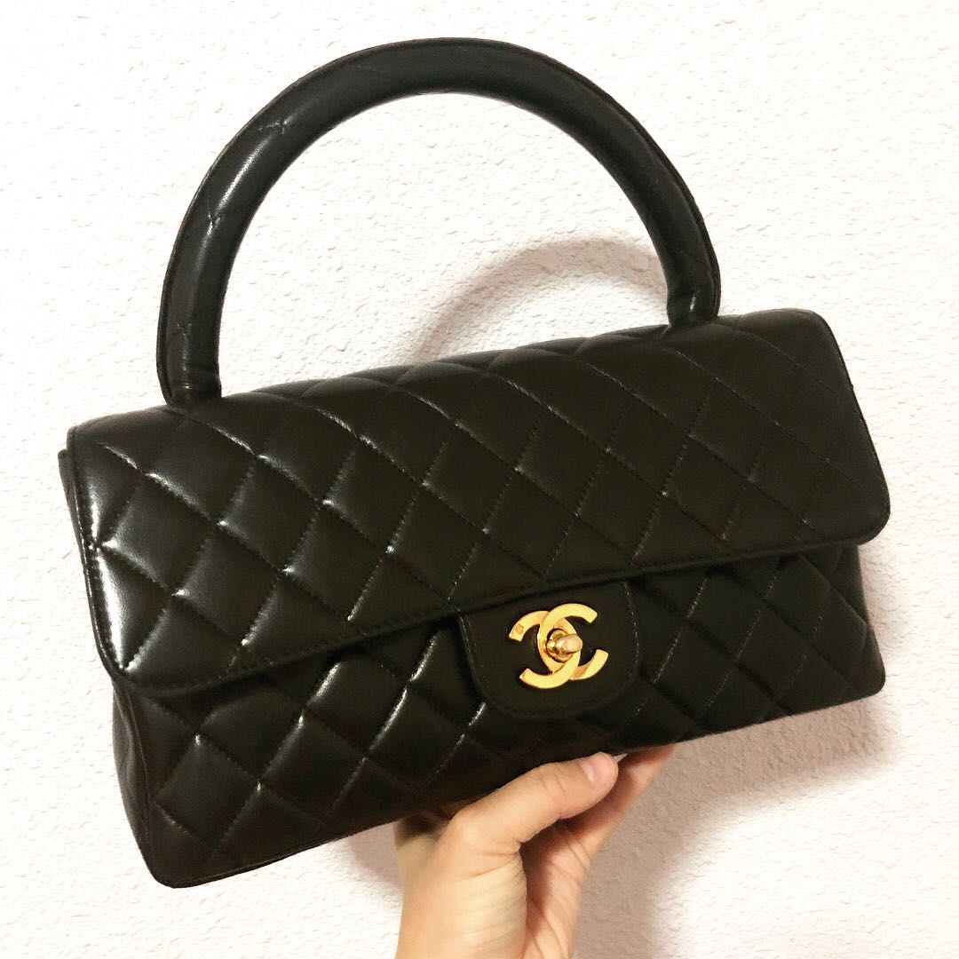 904154878ced Authentic Chanel Medium Lambskin kelly Bag with 24k Gold Hardware ...