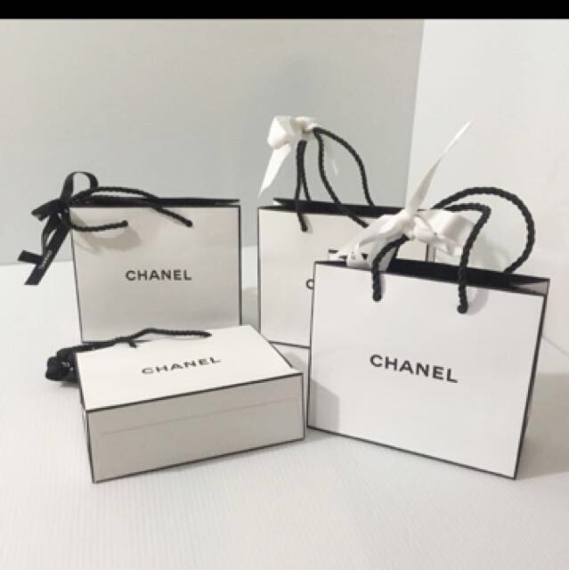 4cc4ad7d35cb Authentic Chanel Small Paperbag with Ribbons, Luxury, Bags & Wallets ...