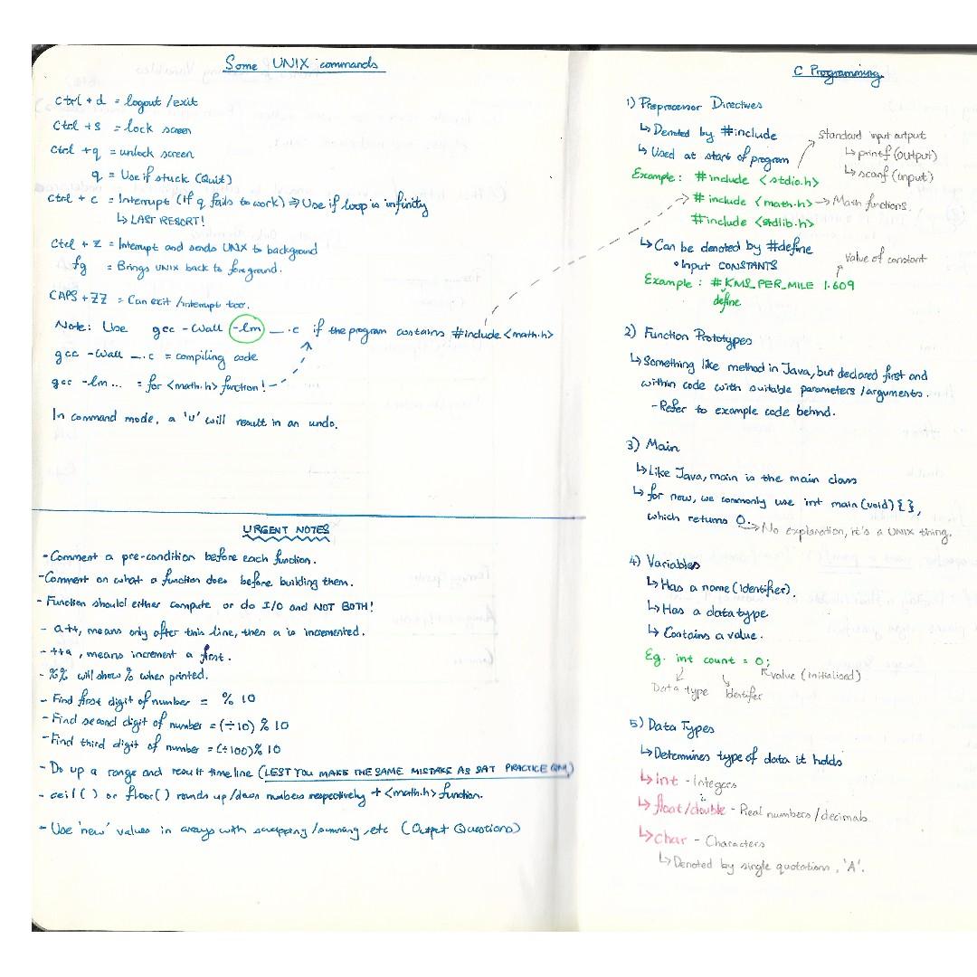 Basic C programming notes