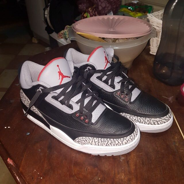 new style a3733 3fa0d Black cement 3s