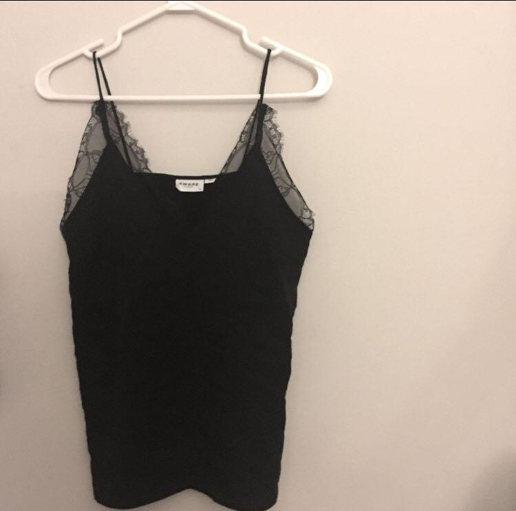 BLACK Version from M Boutique size SMALL black lace tank top