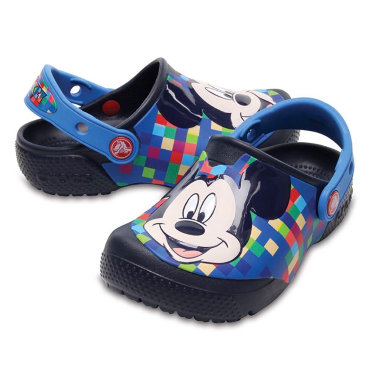 BN Crocs C11 Navy Mickey Mouse Fun Lab