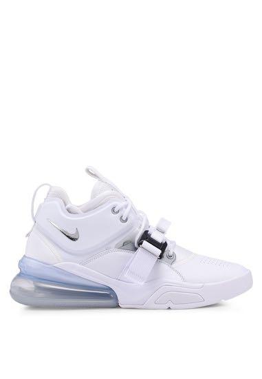 new arrival 66e13 c4101 BNIB NIKE Air Force 270 Shoes in White Metallic Silver, Men s ...