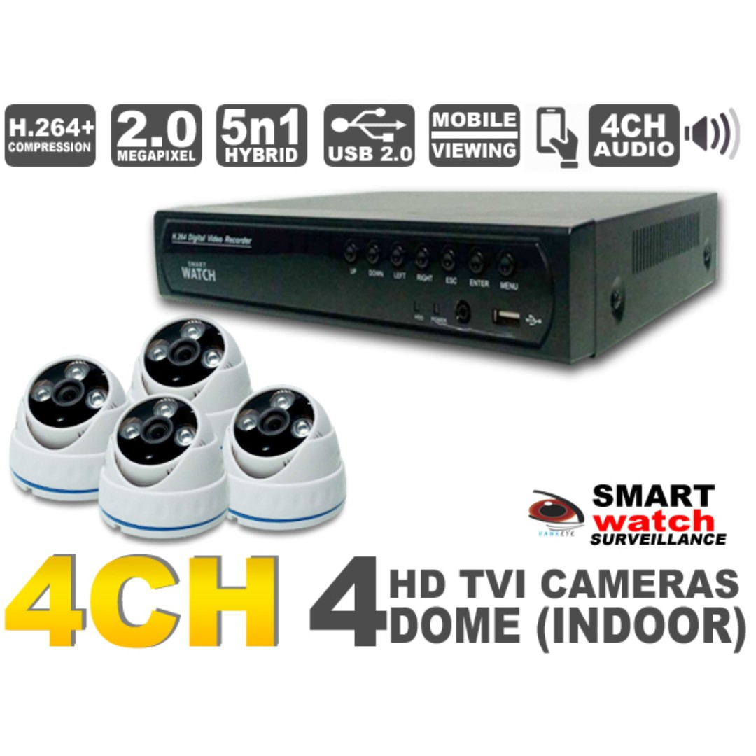 CCTV Indoor Surveillance Camera Package Kit Complete Security