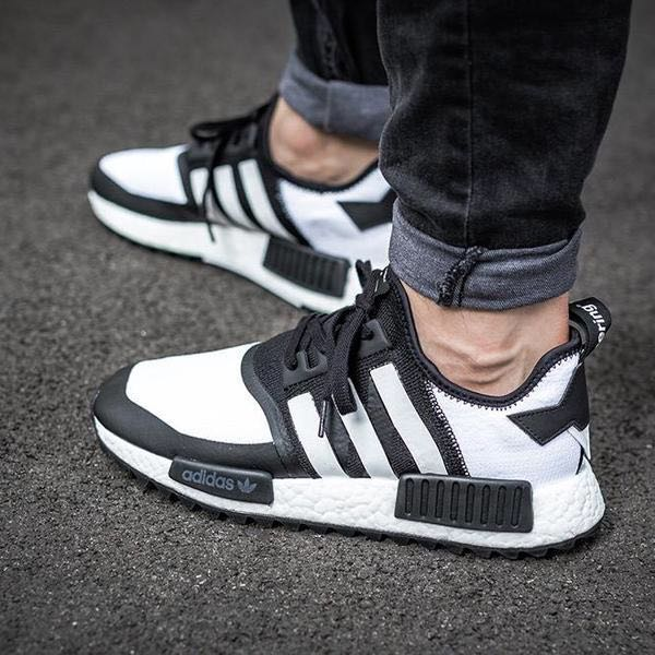 980be75d0 Cheapest Adidas NMD R1 PK TRAIL X White Mountaineering Black White ...