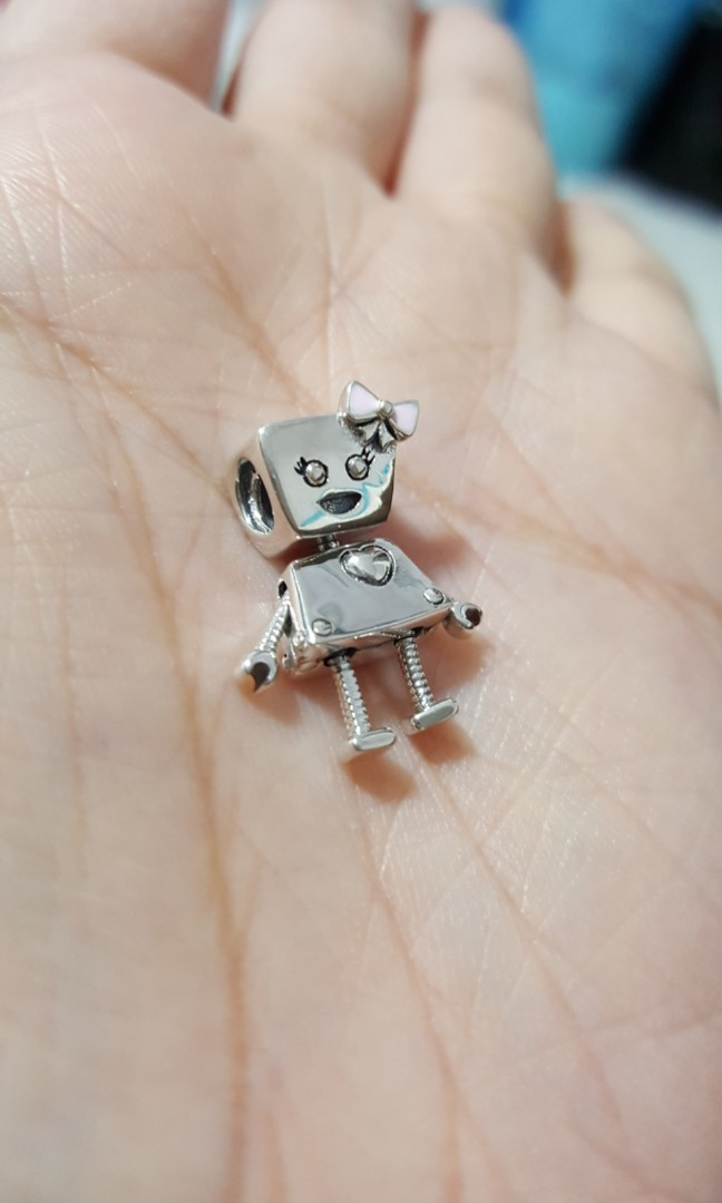 fe6b9045f Code SS811 - Robot Girl 100% 925 Sterling Silver Charm, Chain Is Not ...