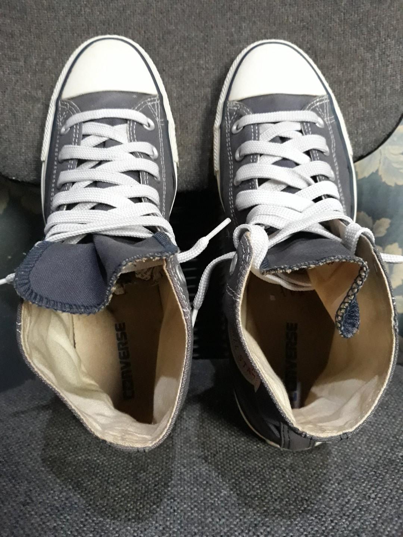 Converse All Star Hi Tex Grunge shoes belugagrey