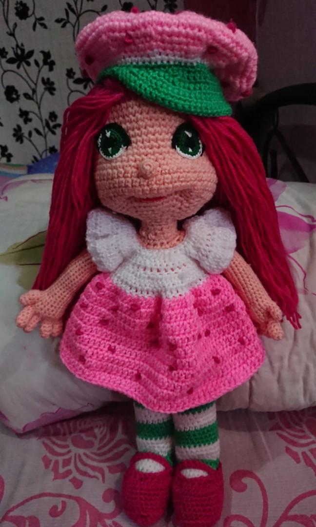 Crochet Strawberry Shortcake Doll Amigurumi Babies Kids Toys