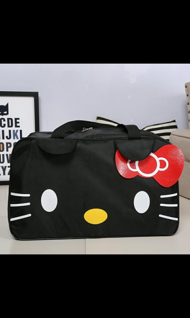 b514794e95 Hello Kitty black duffle bag