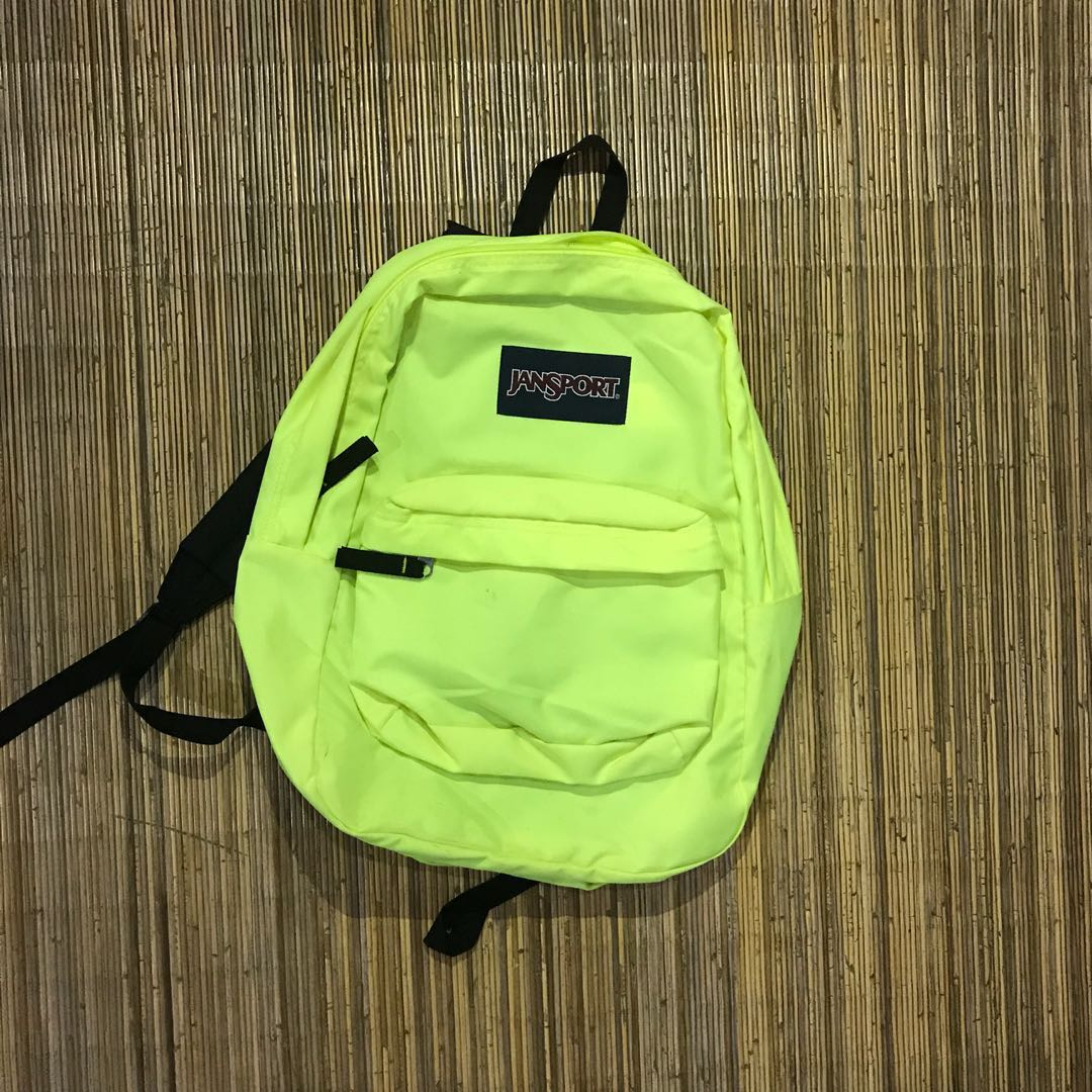 JANSPORT exposed backpack neon yellow 521b00cd79