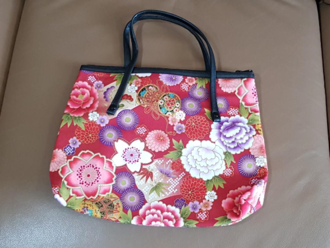 Japan floral bag