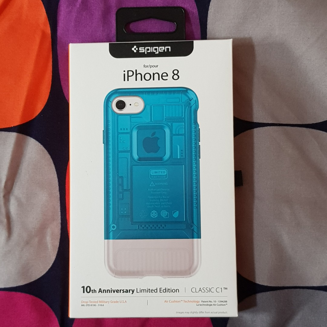 best loved 7816e 35747 New authentic Spigen C1 Case for iPhone 8 - Blueberry