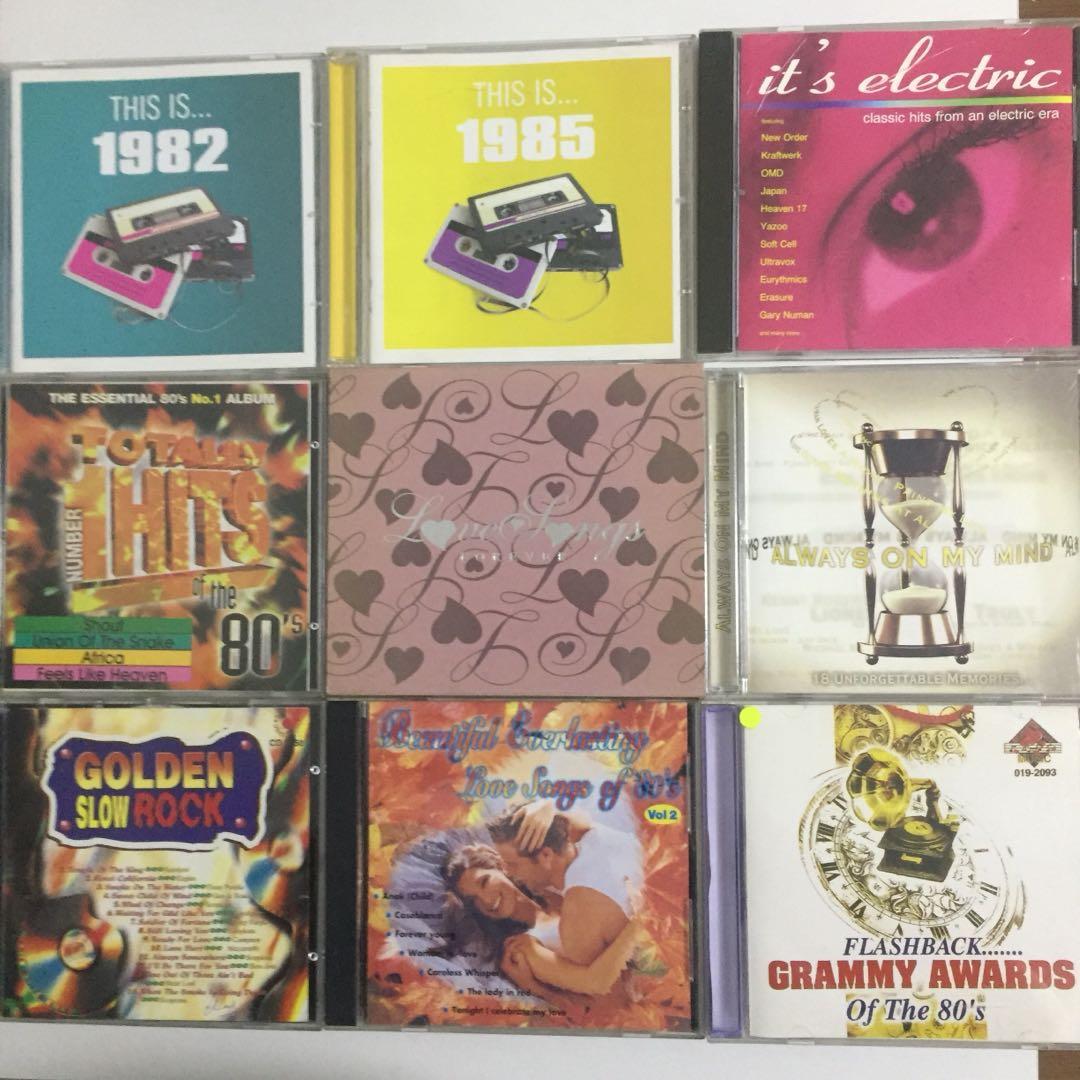 Nostalgic 80s Music CDs