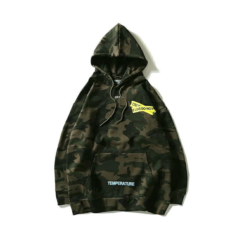 Off White Camo Hoodie Mens Fashion Clothes Outerwear On Carousell