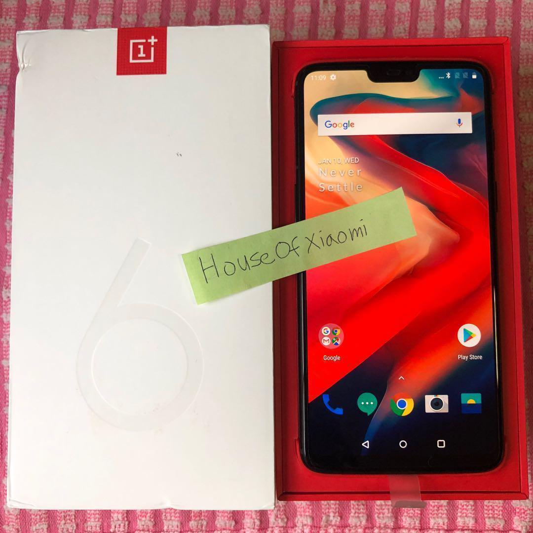 OnePlus 6 Midnight Black 128GB, Mobile Phones & Tablets