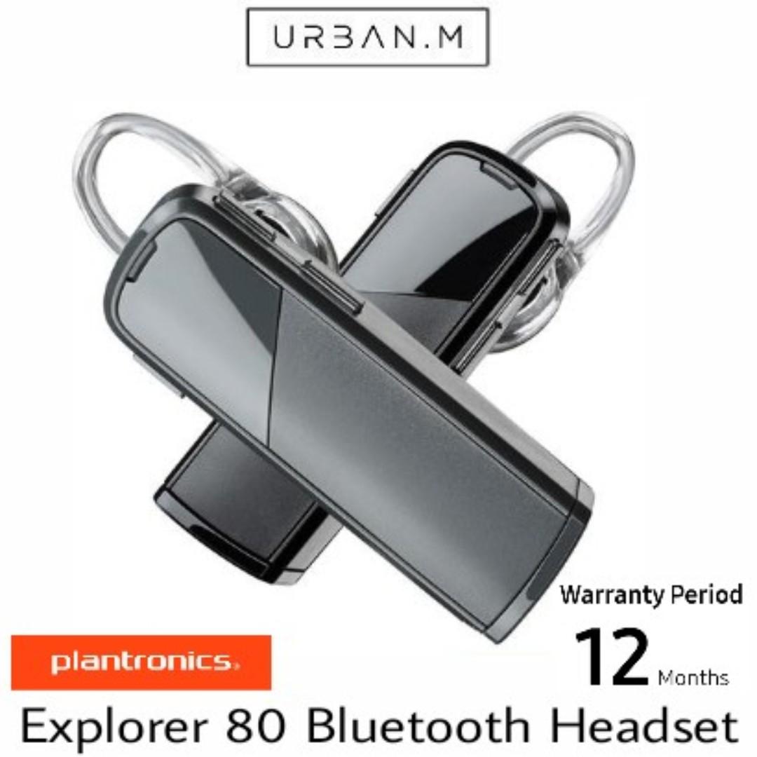 4056fc050ca Plantronics Explorer 80 Bluetooth Headset (Retail Packaging ...