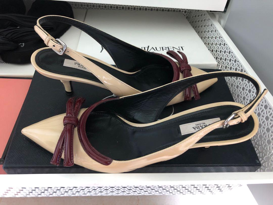 Prada sling heel