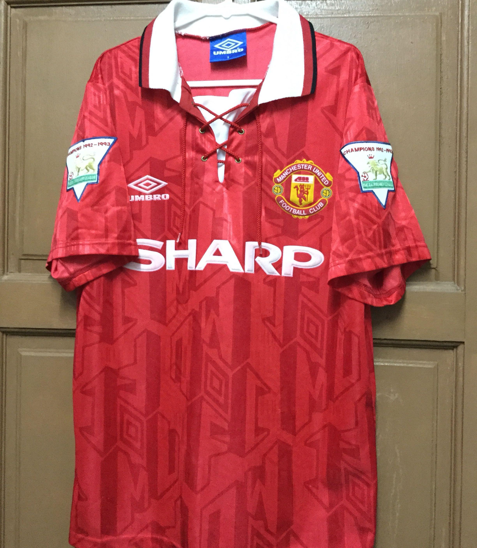 the best attitude f3250 1a758 Preloved Original Manchester United 1993/1994 Home Kitt Jersey