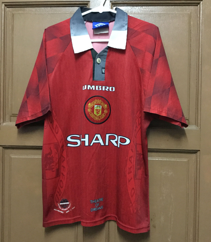 on sale 2d66a 2be53 Preloved Original Manchester United 1996/1997 Home Kitt Jersey