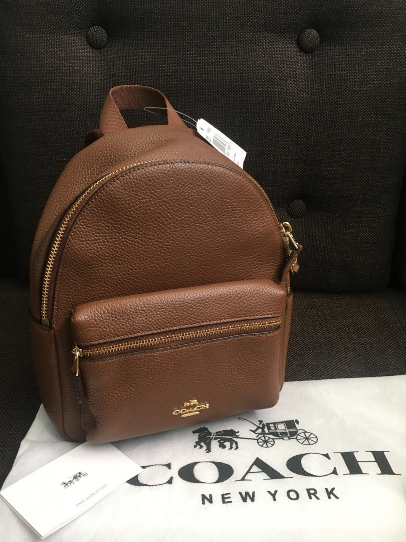 🛑REPRICE🛑Coach Pebble leather Charles Backpack 81838e6a65