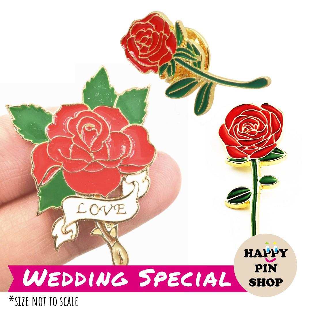 dff3d0c55d0 Rose Stalk Enamel Pins (HPS Wedding), Gardening, Flowers & Bouquets ...