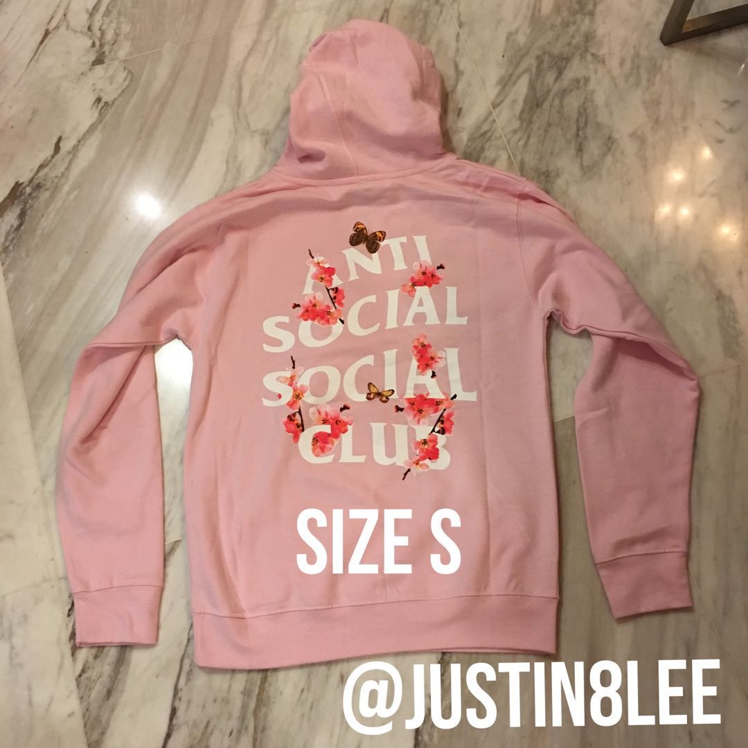 aca3f440f17d S) Anti Social Social Club Kkcok pink hoodie Assc
