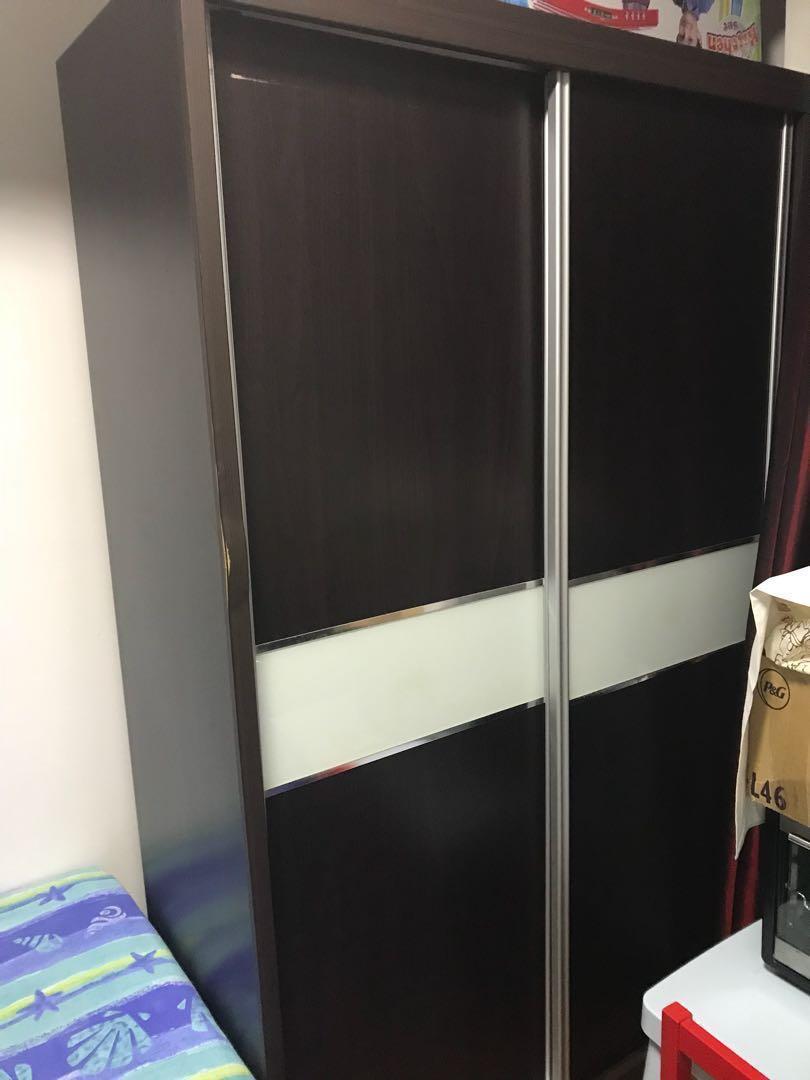 Sliding Door Wardrobe, Furniture, Shelves & Drawers on Carousell on