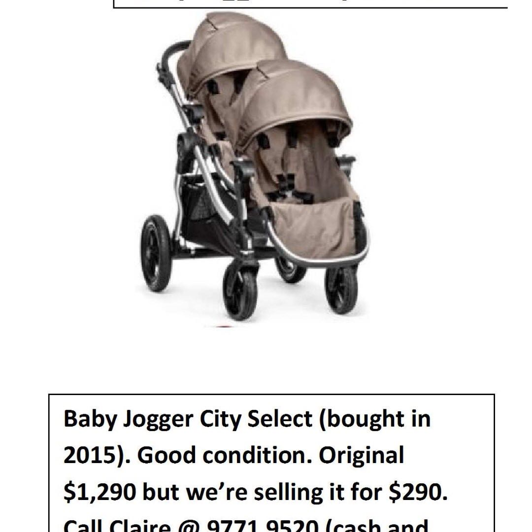 Stroller City Select Baby Jogger Twin Tandem