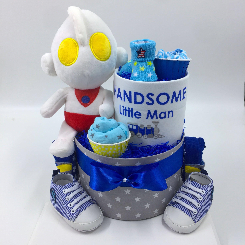 69b37cff0c0 Ultraman Baby 2-tier Diaper Cake