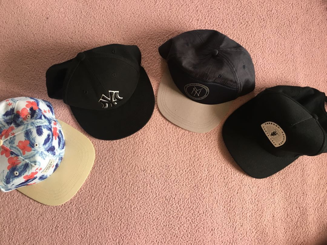 38abba061c6 ulzzang black flat pack bucket hats pink floral pineapples rings caps cap  snapbacks