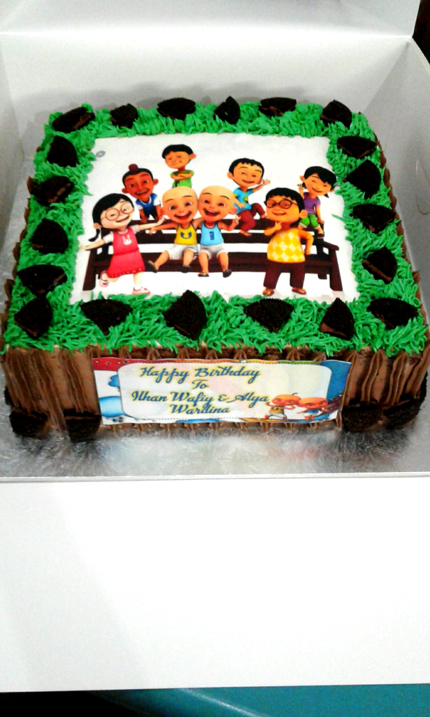 Upin Ipin Edible Print Cake Bulletin Board Preorders On Carousell